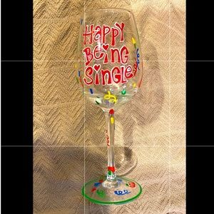 Pier 1 imports - hand painted wine glass